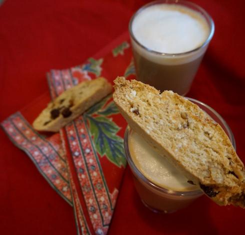 Coconut Walnut Raisin Biscotti from scratch